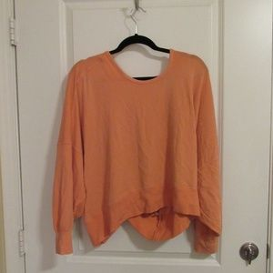 Free People Open Back Sweatshirt